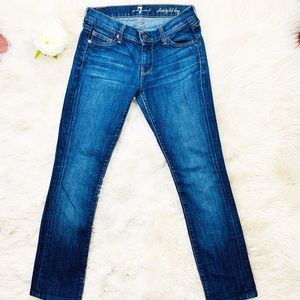 7 For All Mankind | Straight Leg Mod Rise Jeans